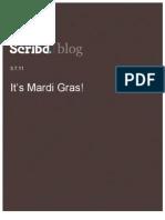 It's Mardi Gras! Scribd Blog, 3.7.11