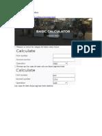 Pagina de testeo Calculadora