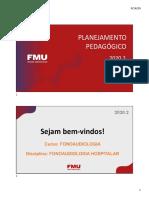 Planejamento Pedagógico FONO HOSP Noite - CISBEM 2020.2