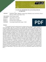 (2009) - Microalga Chlorella sp. Cultivada sob diferentes concentrações de nutrientes.