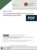 Moulines_Las Concepciones Modelísticas y La Concepción Estructuralista de Las Teorías