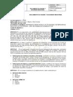 REGLAMENTO DE HIGIENE Y SEGURIDAD INDUSTRIAL MARIQUITA