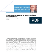 27 años de lucha por la integración de América Latina