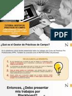 Tutorial GESTOR DE PRÁCTICAS DE CAMPO - Como nombrar y subir los trabajos