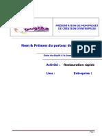 74496805 Business Plan Resto Rapide