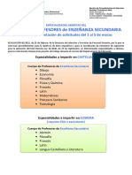 ESPECIALIDADES PRIMERA APERTURA MARZO 2021