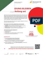 Flyer Alumniportal