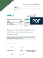 Evelop- Información de su reserva H3FT9F