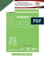 AGENDA DE LA SEMANA 4 OCTAVO, NOVENO, DÉCIMO