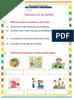 Ficha de Activdad - Funciones de La Familia