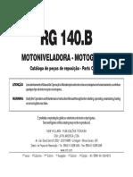 Catálogo Da RG140B