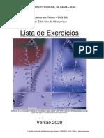Lista de exercícios - ENG520