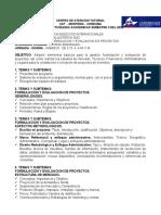 GUIA DE GESTION Y FORMULACION Y EVALUACION DE PROYECTOS - SABADOS