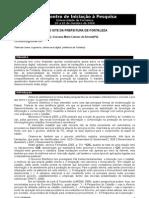 E-GOV. UMA ANALISE DO SITE DA PREFEITURA DE FORTALEZA