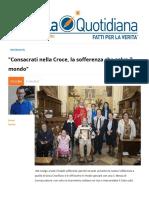 Consacrati nella Croce, la sofferenza che salva il mondo