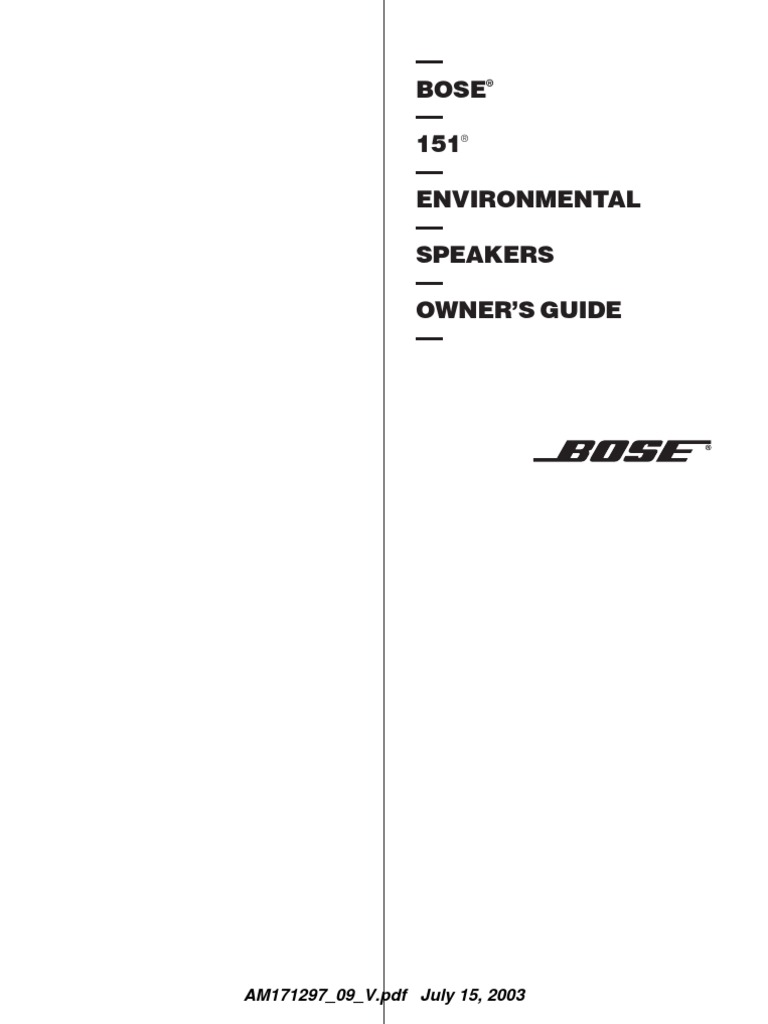 Bose 151 guide loudspeaker wire publicscrutiny Image collections