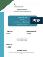 Rapport de Stage Chez La Direction Provinciale Des Impots + Thème Le Régime de l'Autoentrepreneur