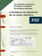 Parametros de Operacion  de un motor eléctrico