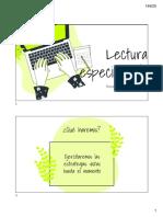 III Electivo Lenguaje Actividad 7 PPT 1 Lectura y Escritura Especializada- Repaso de Estrategias