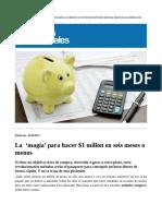 Método para obtener 1 millon de pesos Rapido