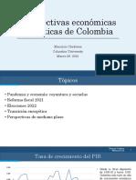 Perspectivas económicas y políticas de Colombia - Marzo 26