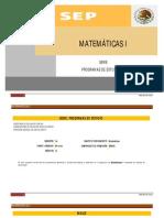 MATEMATICAS-I SEP BACHILLERATO