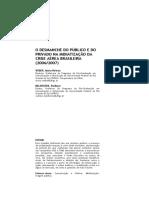 O desmanche do público e do privado na midiatização da crise aérea brasileira 2006 2007