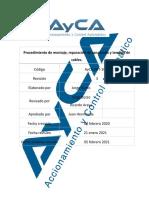 AyCA-PET-1007 Procedimiento de Montaje, Reparación de Canalizado y Tendido de Cables. Rev. 3