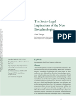 Pottage - The Socio-legal Implications of the New Legal Biotechnologies