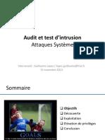 08 - AUTI - Formation - Securite - Attaques Système
