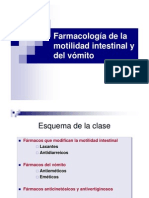 farmacologia de vomito y motilidad intestinal