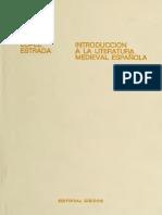 Introducción a la literatura medieval española-López Estrada, Francisco
