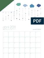 pato · calendario abril 2011