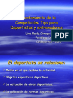 Afrontamiento de la Competición. Lina Maria Orrego Ramirez