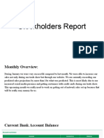 january stockholder report