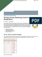 Top Linux Monitoring Tools