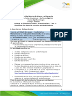 Guía de actividadeNNNs y rúbrica de evaluación - Unidad 3 - Fase 4 - Identificar los tipos de estudios epidemiológicos