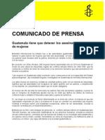 Comunicado de Prensa- Guatemala E