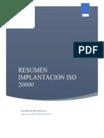 Resumen ISO 20000