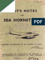 Pilot's Notes - Sea Hornet F.20 (fighter) [A.P. 4037A P.N.] (1950) WW