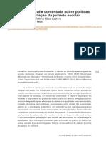 Bibliografia Comentada Sobre Políticas de Ampliação Da Jornada Escolar