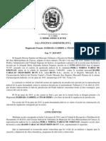 TSJ-SPA. 2015-07-02. Sent. No. 00806. Perla Teresa Farías de Eskinazi c. RCTV