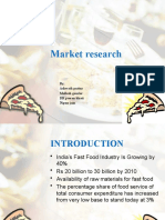 Marketing research  of PIZZA in manipal