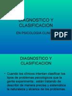 DIAGNOSTICO Y CLASIFICACION.