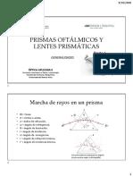 PRISMAS OFTÁLMICOS Y LENTES PRISMÁTICAS - Generalidades