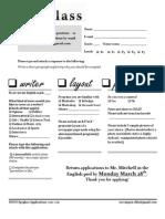 RHHS Spyglass 2011 Application Form