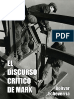 Bolivar Echeverria - El discurso crítico de Marx