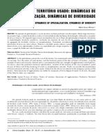MARIA LAURA - TERRITÓRIO USADO - DINÂMICAS DE ESPECIALIZAÇÃO, DINÂMICAS DE DIVERSIDADE