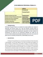 PROGRAMA DE DERECHO PROCESAL PENAL III