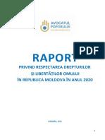 Raport 2020 Avocatul Poporului